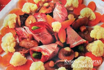 Вторые блюда.  Горячие закуски из мяса.  Мясные рулетики из говядины. .