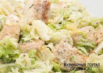 салат с курицей и пекинской капустой рецепт