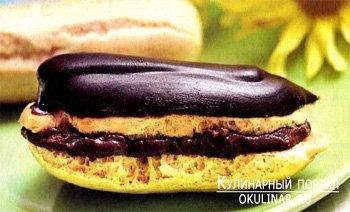 Эклеры с шоколадным кремом. Рецепт с фотографией