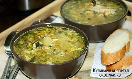 Рецепты куриного супа с яйцом